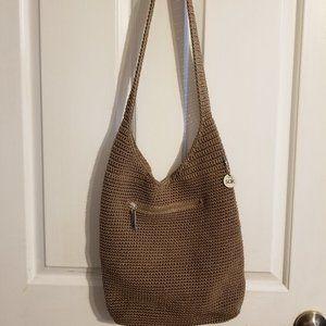 The Sak Crochet Woven Bag Bronze Brown Crossbody